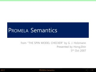 P ROMELA  Semantics