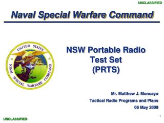 NSW Portable Radio  Test Set (PRTS)