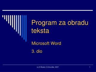 Program za obradu teksta