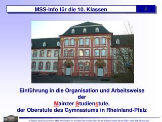 MSS-Info für die 10. Klassen
