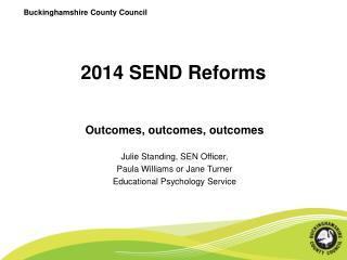 2014 SEND Reforms