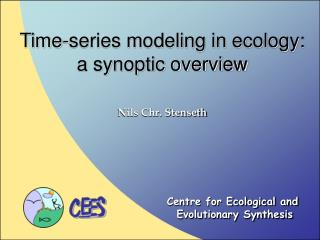 Time-series modeling in ecology: a synoptic overview