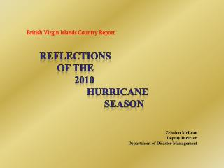 British Virgin Islands Country Report