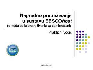 Napredno pretraživanje  u sustavu EBSCO host pomoću polja pretraživanja za usmjeravanje