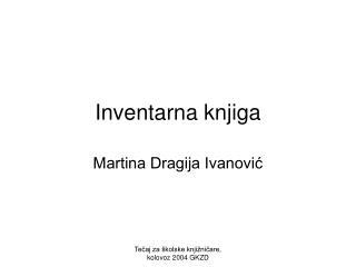 Inventarna knjiga