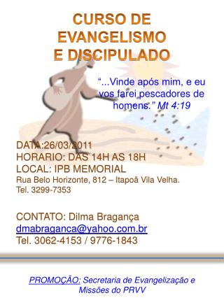 CURSO DE EVANGELISMO E DISCIPULADO