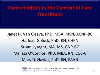 Comorbidities in the Context of Care Transitions