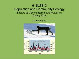 61BL3313 Population and Community Ecology