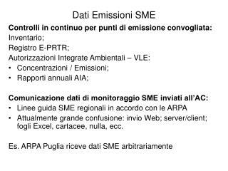 Dati Emissioni SME