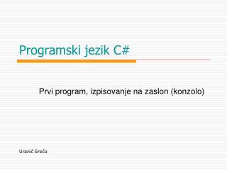 Programski jezik C#
