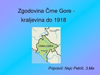 Zgodovina Črne Gore -