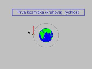 Prvá kozmická  (k r uhov á )   rýchlosť