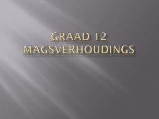 GraAd  12  magsverhoudings