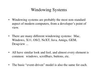 Windowing Systems