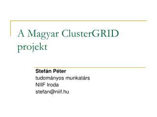 A Magyar ClusterGRID  projekt