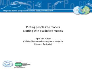 Putting people into models Starting with qualitative models