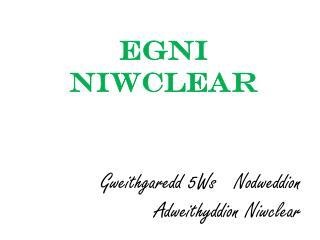 Gweithgaredd 5Ws   Nodweddion Adweithyddion Niwclear