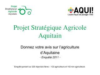 Projet Stratégique Agricole Aquitain