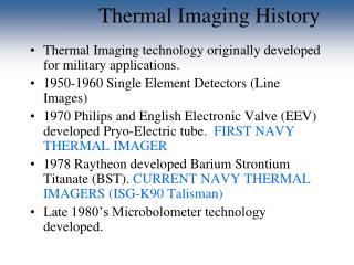 Thermal Imaging History