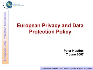 European Privacy and Data Protection Policy
