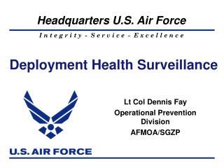 Deployment Health Surveillance