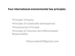 Four international environmental law principles