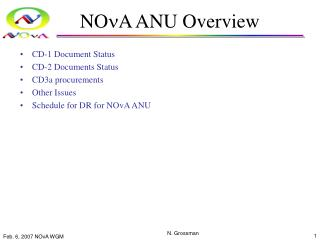 NO n A ANU Overview