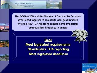 The GFOA of BC and the Ministry of Community Services