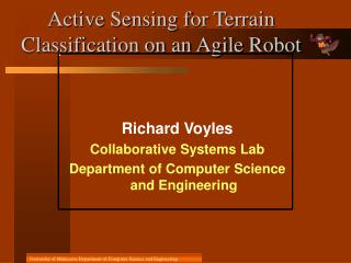 Active Sensing for Terrain Classification on an Agile Robot