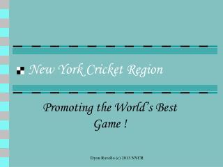 New York Cricket Region