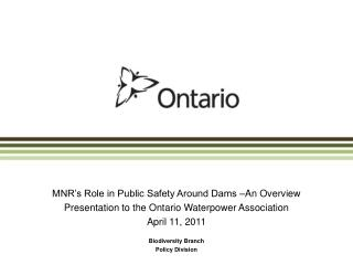 MNR's Role in Public Safety Around Dams –An Overview
