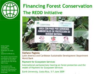 Payment for Ecosystem Services International parliamentary hearing on forest protection and the