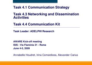 Task 4.1 Communication Strategy