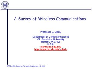 A Survey of Wireless Communications