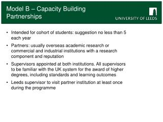 Intended for cohort of students: suggestion no less than 5 each year