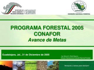 PROGRAMA FORESTAL 2005 CONAFOR Avance de Metas