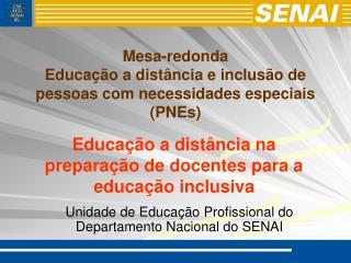 Mesa-redonda Educação a distância e inclusão de pessoas com necessidades especiais (PNEs)