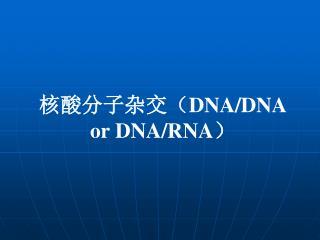 核酸分子杂交( DNA/DNA or DNA/RNA )