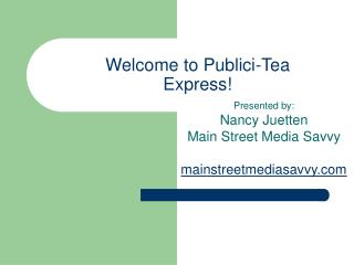Welcome to Publici-Tea Express!