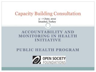 Capacity Building Consultation