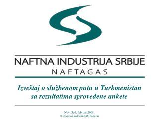 Izveštaj o službenom putu u Turkmenistan sa rezultatima sprovedene ankete