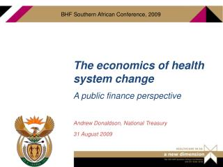 The economics of health system change A public finance perspective