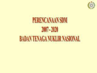PERENCANAAN SDM 2007 - 2020 BADAN TENAGA NUKLIR NASIONAL