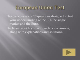 European Union Test