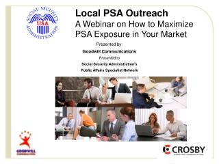 Local PSA Outreach A Webinar on How to Maximize  PSA Exposure in Your Market