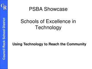 PSBA Showcase Schools of Excellence in Technology