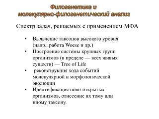 Спектр задач, решаемых с применением МФА