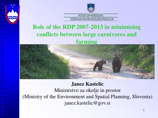 Role of the RDP 2007-2013 in minim i sing conflicts between large carnivores and farming