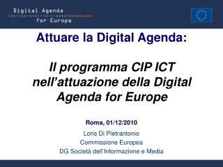 Loris Di Pietrantonio Commissione Europea DG Società dell'Informazione e Media