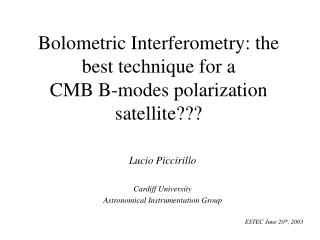 Bolometric Interferometry: the best technique for a  CMB B-modes polarization satellite???